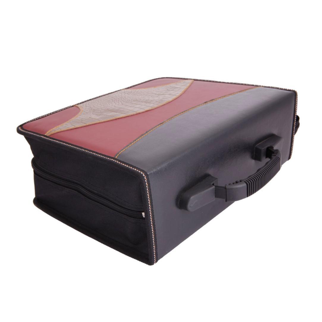 240 disc cd vcd dvd storage organizer holder bag case claret black golden ebay - Dvd case holder shelf ...