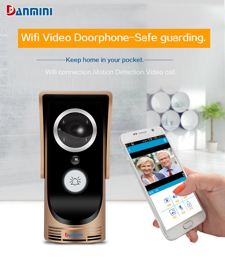Details about Wireless Video IR-CUT Camera Wifi Door Bell Intercom Remote  Phone APP Golden New