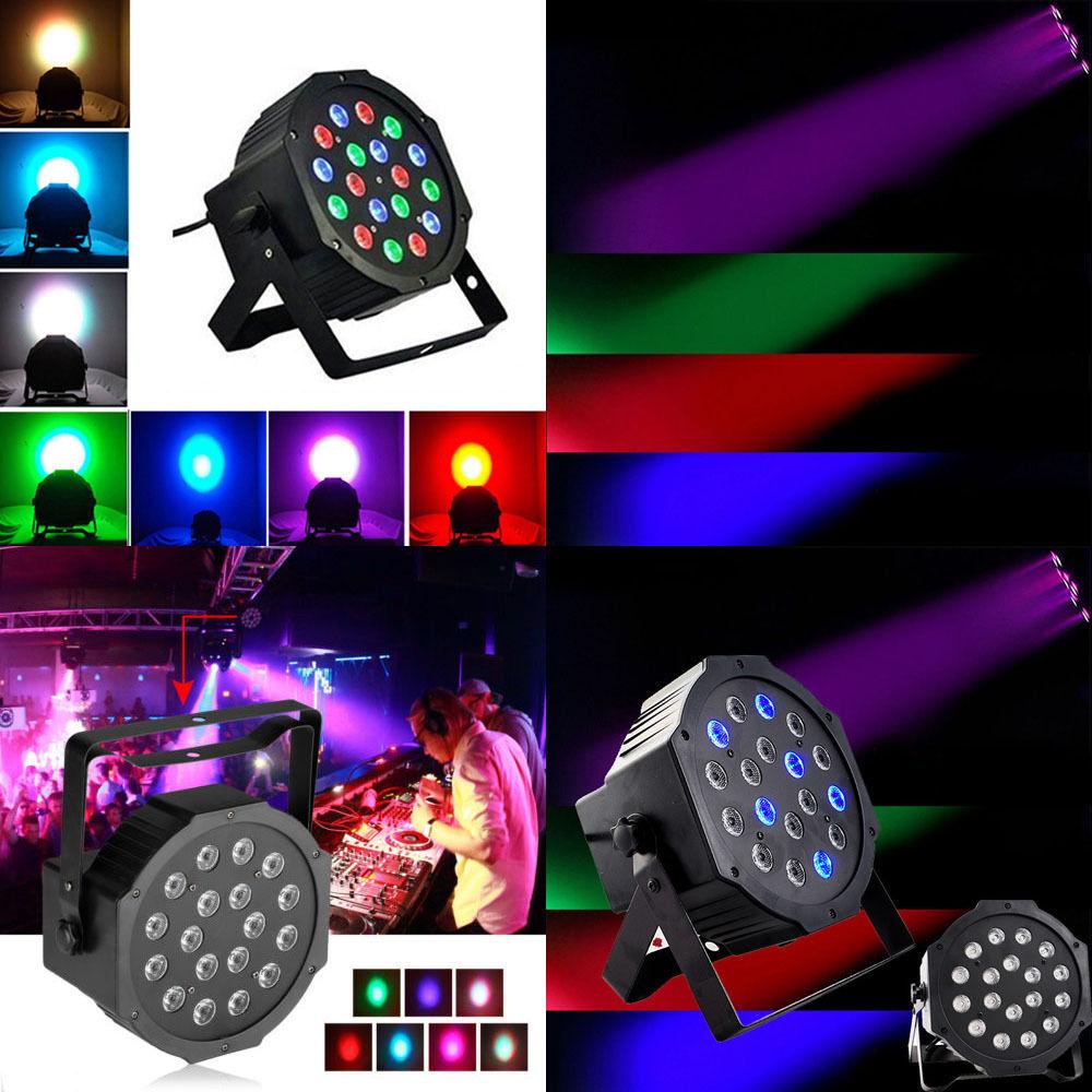 18 led rgb stage light disco dj bar effect up lighting show strobe ebay. Black Bedroom Furniture Sets. Home Design Ideas