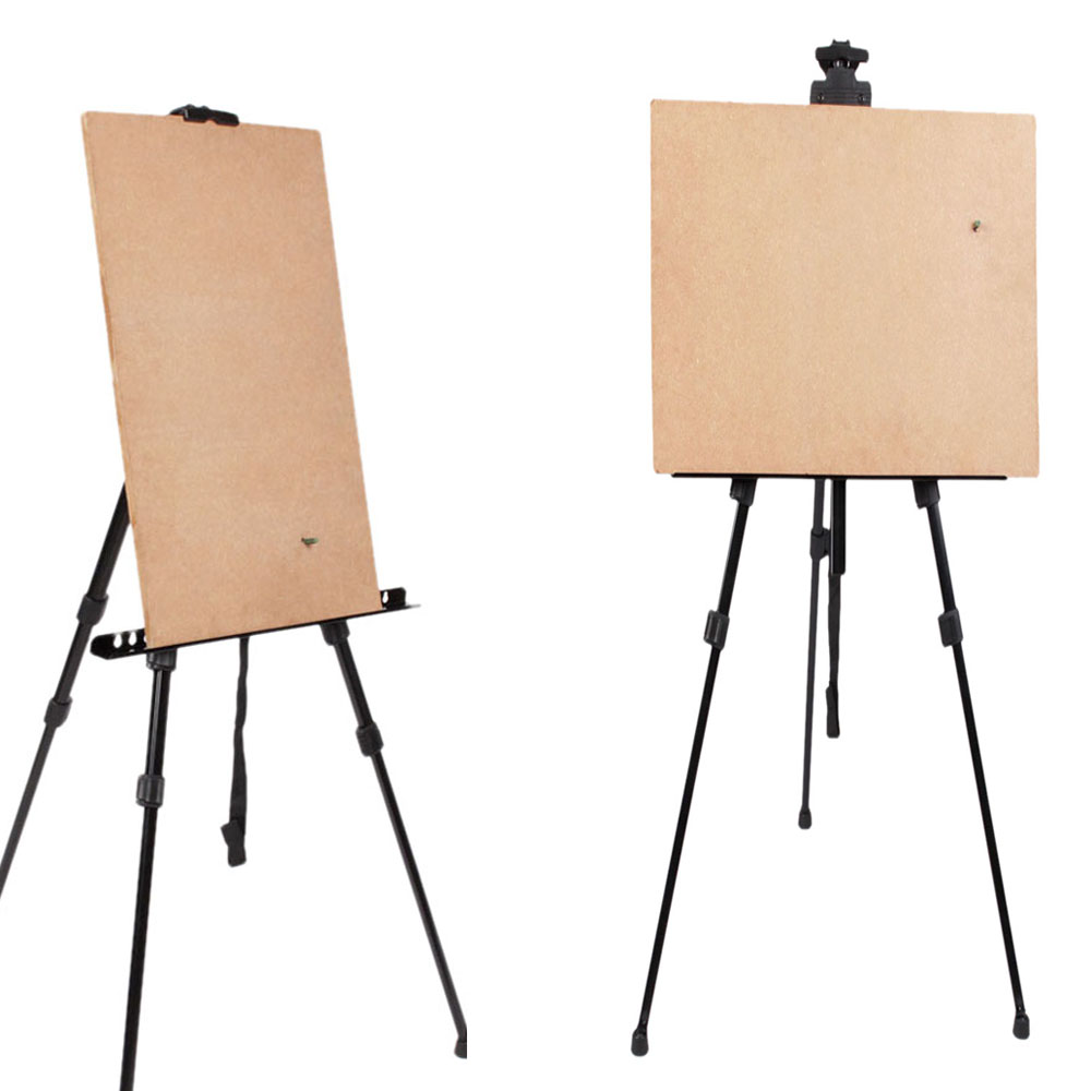 2 Pack Tripod Metal Easel Display Exhibition Folding