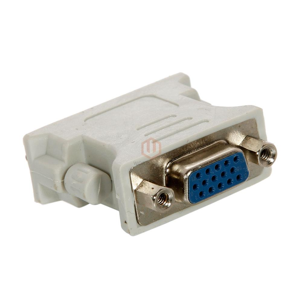 1 X 24+1 DVI Pin Male To VGA Female Convertor Adapter DVI