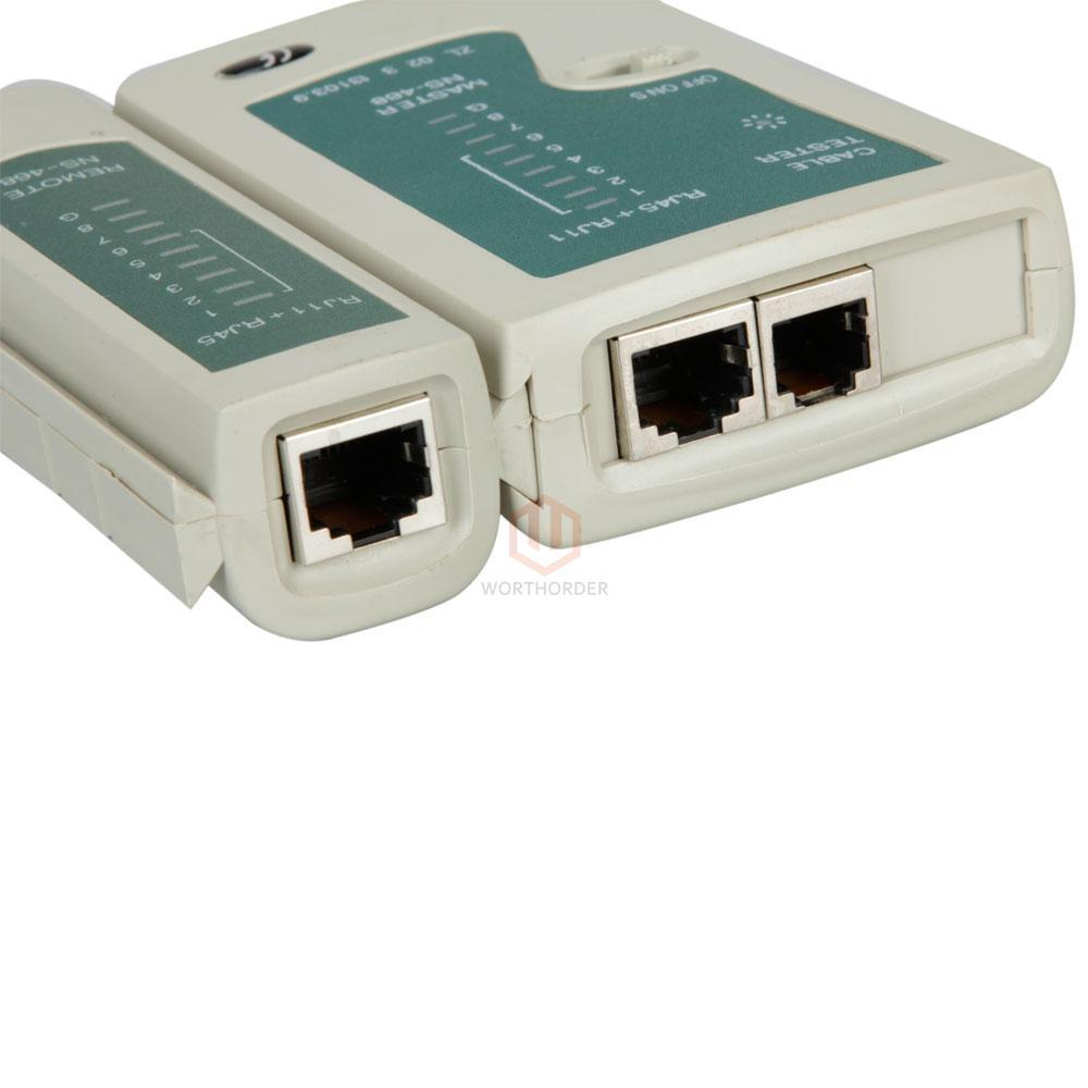Cat 5 Cable Tester Kit : Rj cat network tool kit cable tester crimp lan