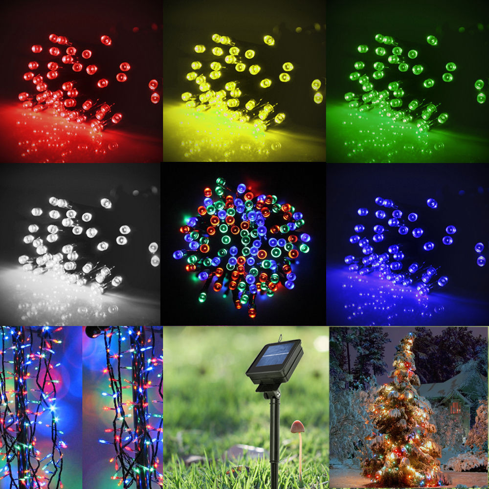 Red Outdoor Lights Party: New 60/100 LED Solar Power String Fairy Light Garden Path