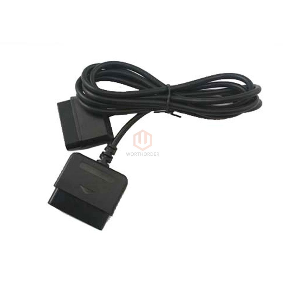 Ps2 Extension Cable : Black controller extension cable cord for playstation ps